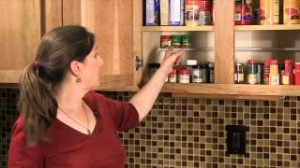 video capture of Elisa Bernick explaining how to make a DIY spice rack
